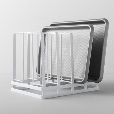 Kitchen Cabinet Pan Organizer White   Made By Design™ : Target
