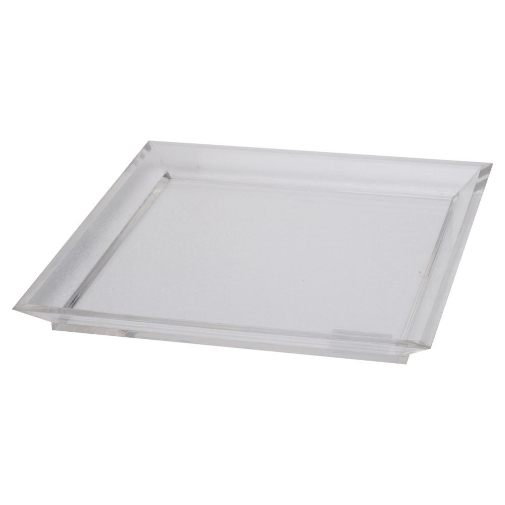 Image of Acrylic Westby Square Tray - Large - A&b Home, Clear