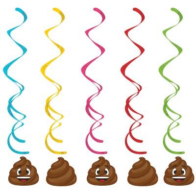PoopEmoji Swril Party Decoration
