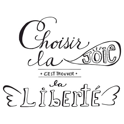 Trouver la libert Wall Decal - Black - image 1 of 2