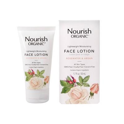 Nourish Organic Lightweight Moisturizing Face Lotion 1.7oz