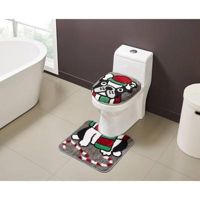 2pc Holiday Bath Rug Set - VCNY