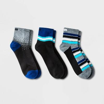 Pair of Thieves Men's 3pk Cushion Ankle Socks - Blue/Gray/White Wave 8-12