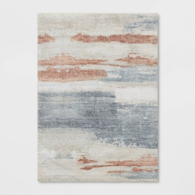 5'x7' Ellyn Painted Abstract Rug Gray - Project 62™