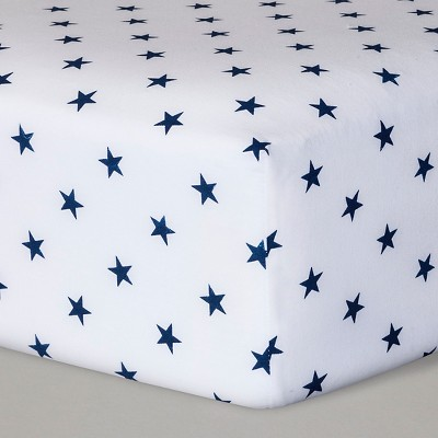 Fitted Crib Sheet Stars - Cloud Island™ Navy