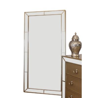 Claudine Floor Mirror - Gold - Abbyson