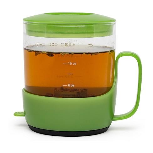 Primula 3-Cup Addison Glass Tea Steeper - Green - image 1 of 4