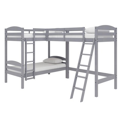 Twin Veronica Triple Wood Bunk Bed - Room & Joy