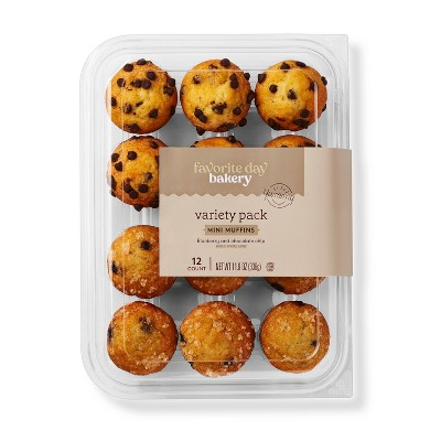 Mini Muffin Variety Pack - 11.9oz/12ct - Favorite Day™