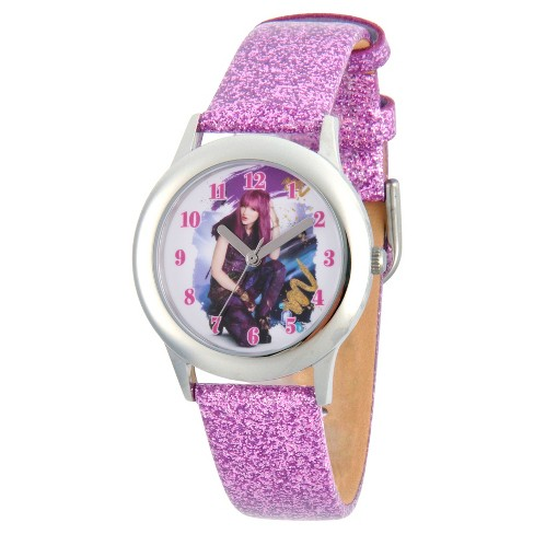 Girls' Disney Descendants 2 Mal Tween Stainless Steel Watch - Purple - image 1 of 1