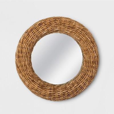 26  Woven Seagrass Round Mirror Natural - Threshold™