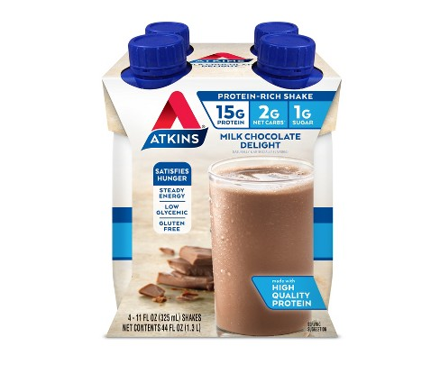 Atkins Nutritional Shake - Milk Chocolate Delight - 8pk - image 1 of 1