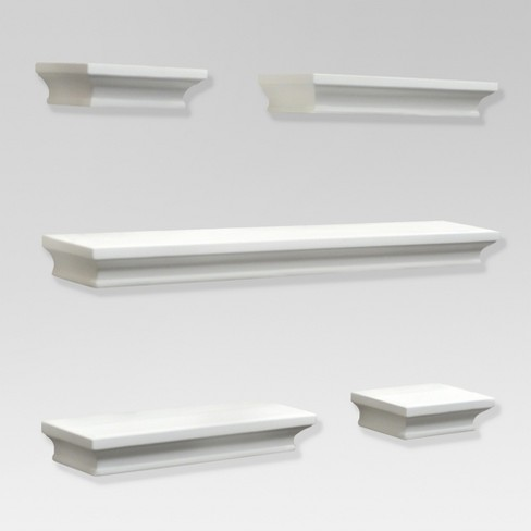 Terrific 5Pc Traditional Shelf Set White Threshold Home Interior And Landscaping Eliaenasavecom
