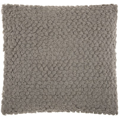 """20""""x20"""" Oversize Thin Group Loops Square Throw Pillow Light Gray - Mina Victory"""