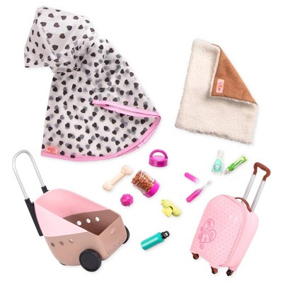 "Our Generation 18"" Doll & Pet Travel Accessory Set - Passenger Pets"