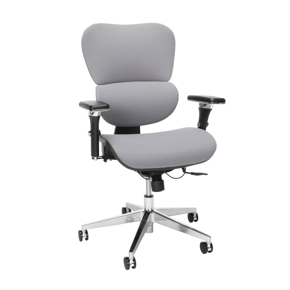 Top Ergo Fabric Upholstered Office Chair with Optional Headrest and Lumbar Support  - OFM