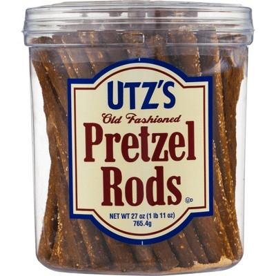 Utz Old Fashioned Pretzel Rods Barrel - 27oz