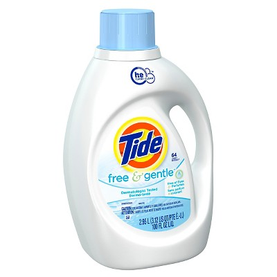 Tide Free and Gentle High Efficiency Liquid Laundry Detergent - 100 oz