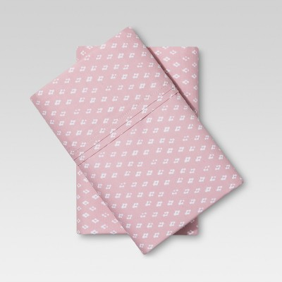 Organic Cotton Pillow Case Set (King)Pink 300 Thread Count - Threshold™