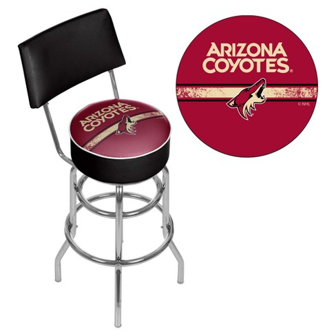 Prime Nhl Arizona Coyotes Swivel Bar Stool With Back Alphanode Cool Chair Designs And Ideas Alphanodeonline