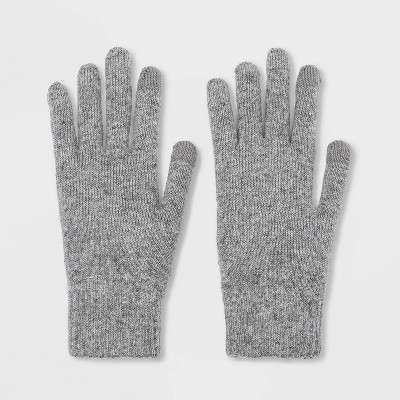 Men's Knit Gloves - Goodfellow & Co™ Gray One Size