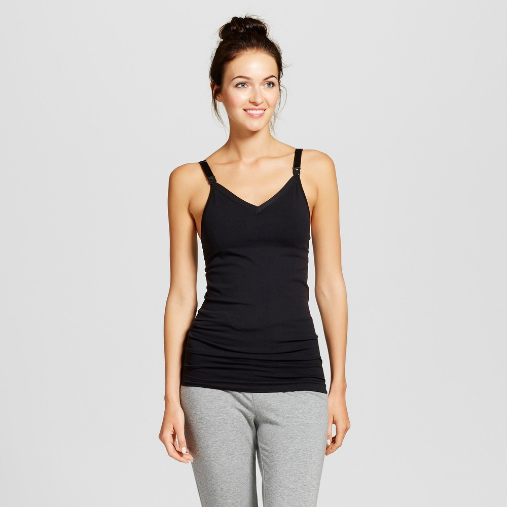 Maternity Seamless Nursing Cami - Isabel Maternity by Ingrid & Isabel Black S, Women's