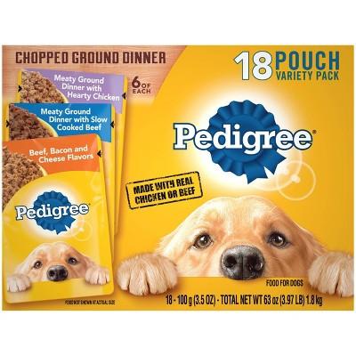 Pedigree Wet Dog Food - 18ct