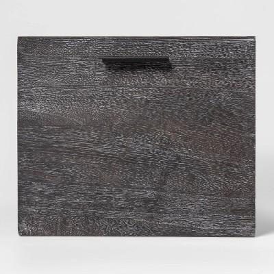 "Large 11""x14"" Decorative Dark Wood Crate Black - Project 62™"
