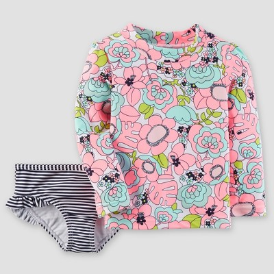 Toddler Girls' Floral Rash Guard Set - Just One You® made by carter's Pink 12M