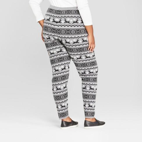womens plus size christmas reindeer sweater leggings 33 degrees juniors gray target
