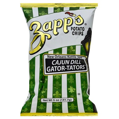 Zapp's New Orleans Kettle Style Cajun Dill Gator-Tators Potato Chips - 5oz - image 1 of 1