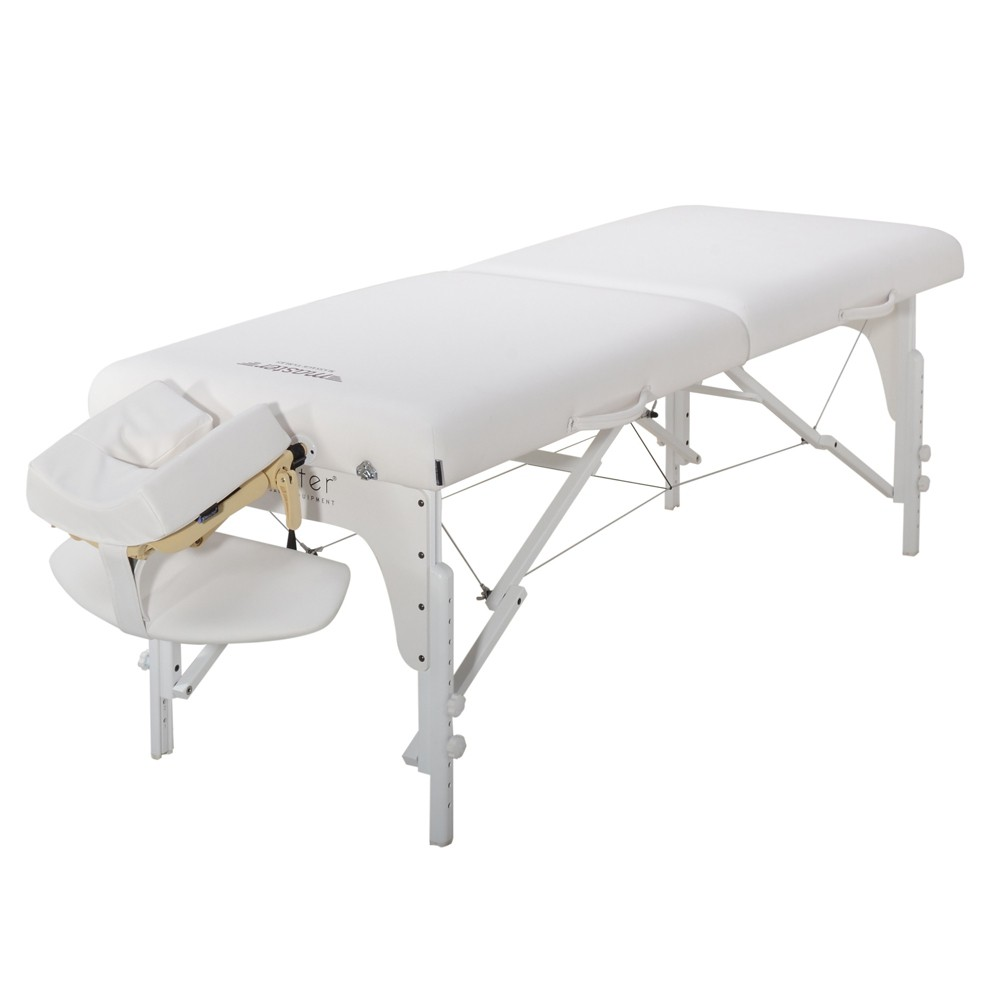 "Image of ""Master Massage Equipment Snow White Extra Wide Montclair Pro Memory Foam Portable Table - 31"""""""