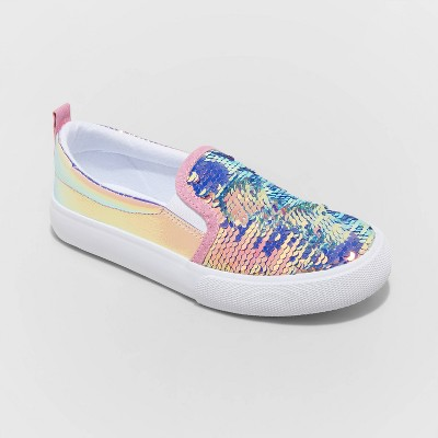 Girls' Aliki Flip Sequin Slip-On Sneakers - Cat & Jack™