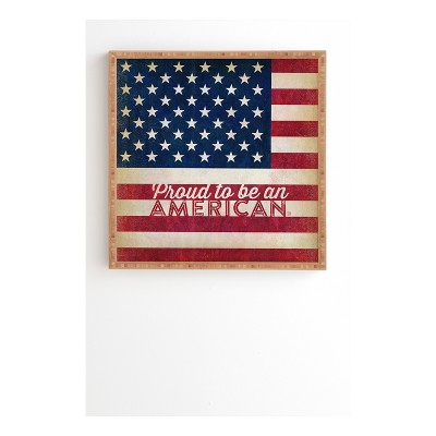 """Anderson Design Group Proud To Be An American Flag Framed Wall Art 12"""" x 12"""" - Deny Designs"""