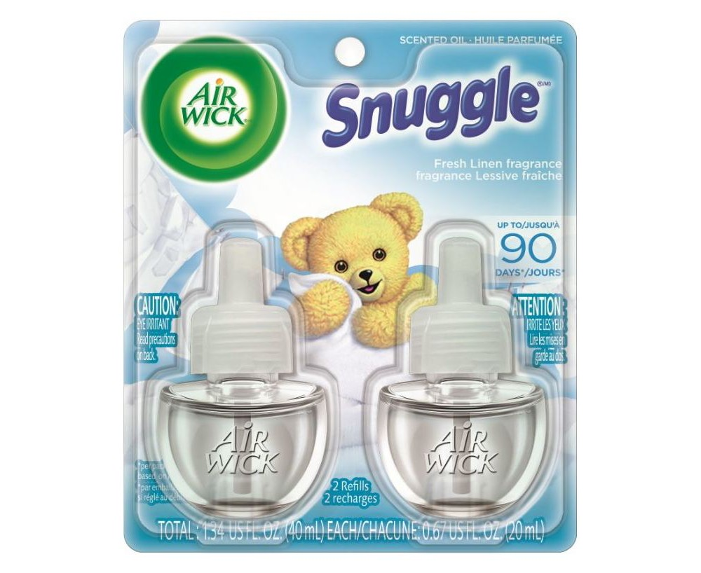Image of Air Wick Snuggle Fresh Linen Scented Oil Air Freshener Refill - 1.34oz