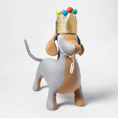 """Birthday Crown Dog Hat - Gold - 6"""" - Boots & Barkley™ - image 1 of 3"""