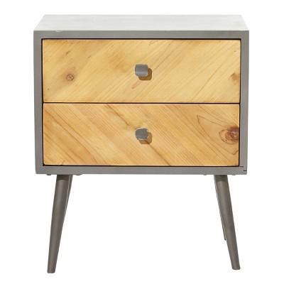 Modern 2 Door Cabinet Gray - Olivia & May