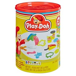 Play-Doh Classic Canister Retro Set with 6 Non-Toxic Colors