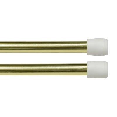 """Set of 2 28""""-48"""" Strafford Adjustable Spring Tension Rods Brass - Kenney"""