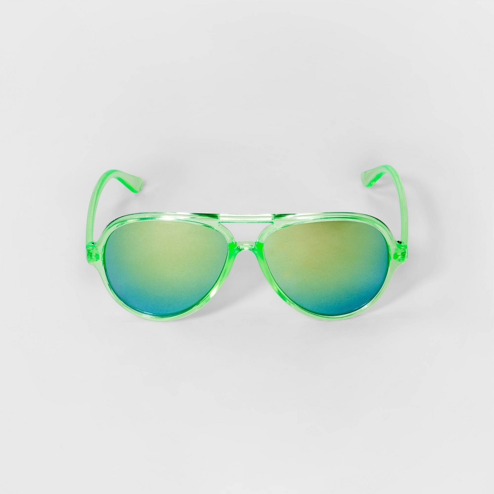 Image of Boys' Aviator Sunglasses - Cat & Jack Green, Boy's, Size: Small