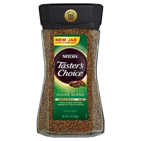 Nescafé Taster's Choice House Blend Light Roast Instant Coffee - Decaf - 7oz - image 1 of 5