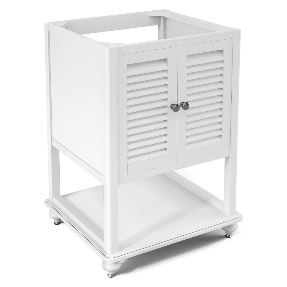 Tahiti Bath Vanity Cabinet White 24 - Alaterre Furniture