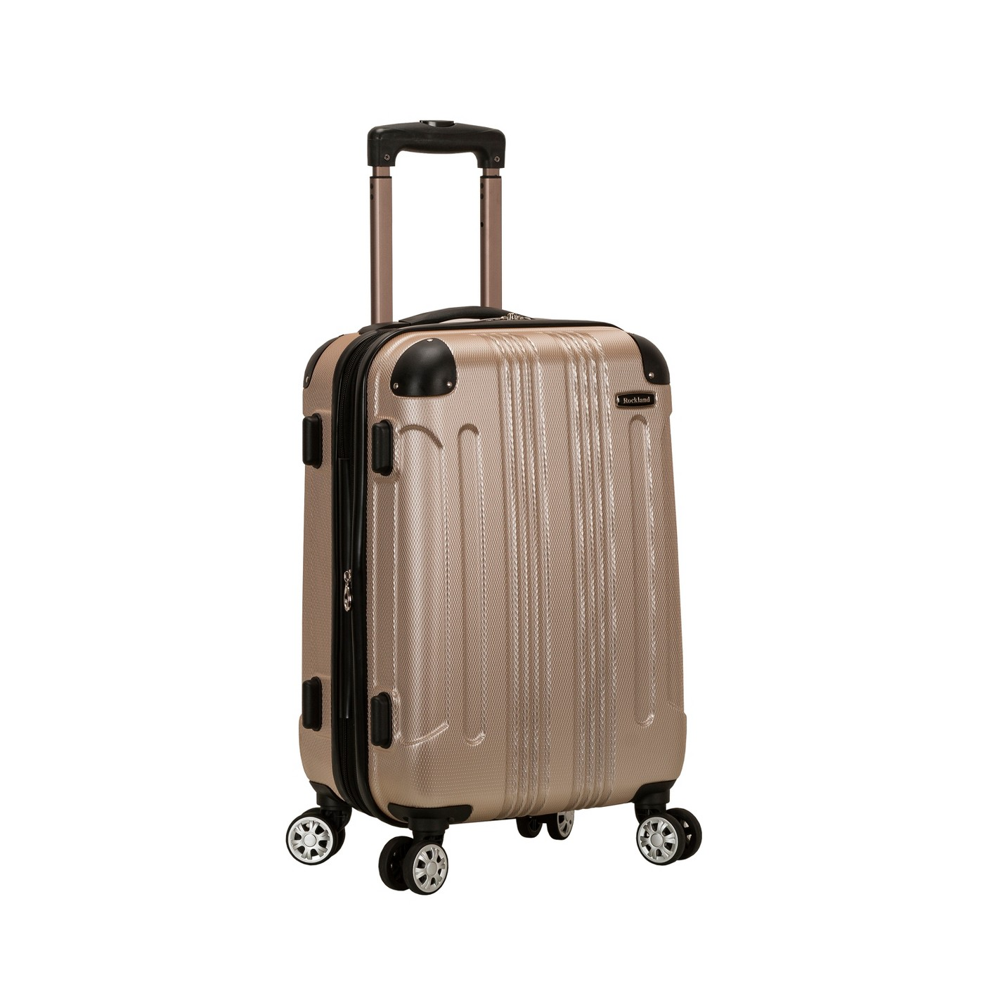 "Rockland Sonic 20"" Expandable Hardside Carry On Suitcase - Champagne - image 1 of 5"