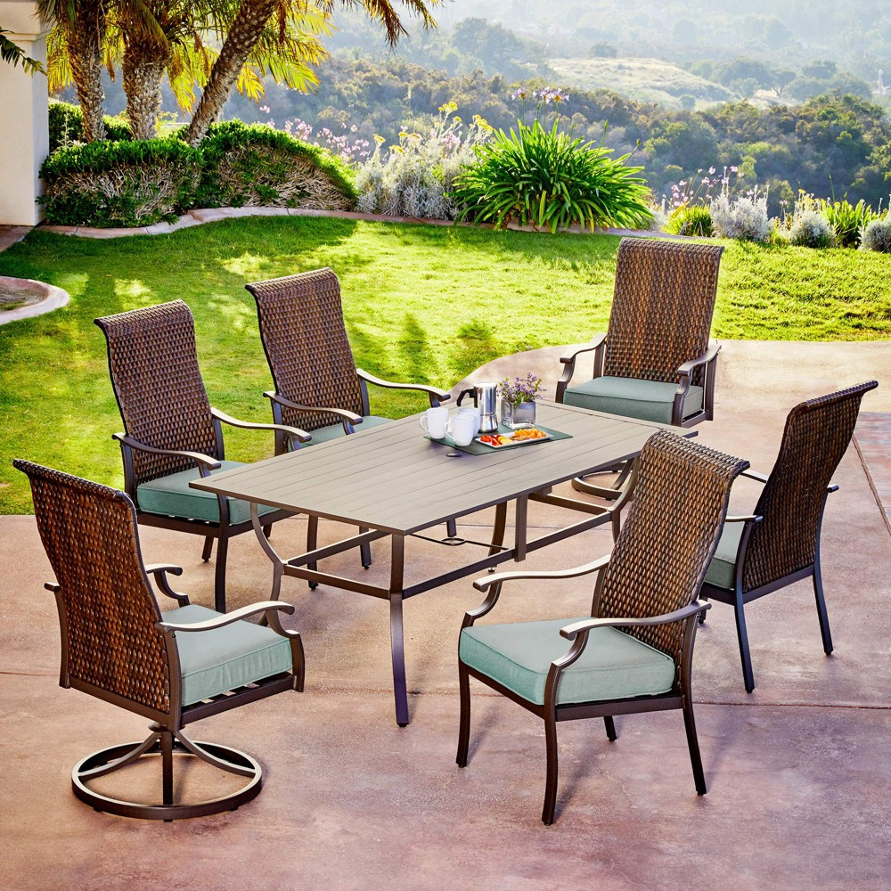 Image of 7pc Rhone Valley Dining Teal - Royal Garden