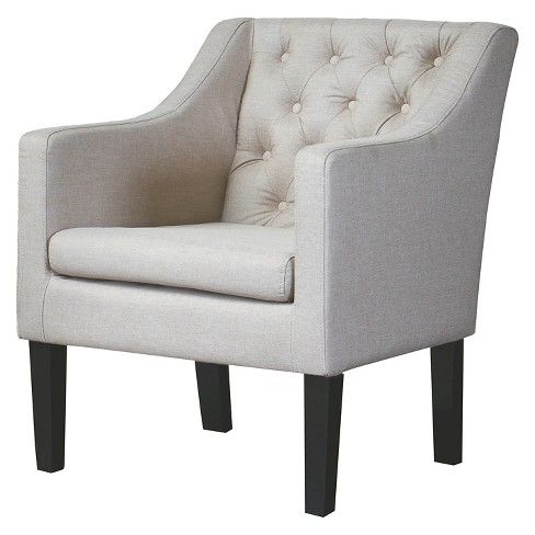 Brittany Club Chair Beige - Baxton Studio - image 1 of 3