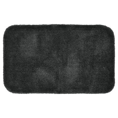 """24""""x40"""" Finest Luxury Ultra Plush Washable Nylon Bath Rug Dark Gray - Garland"""