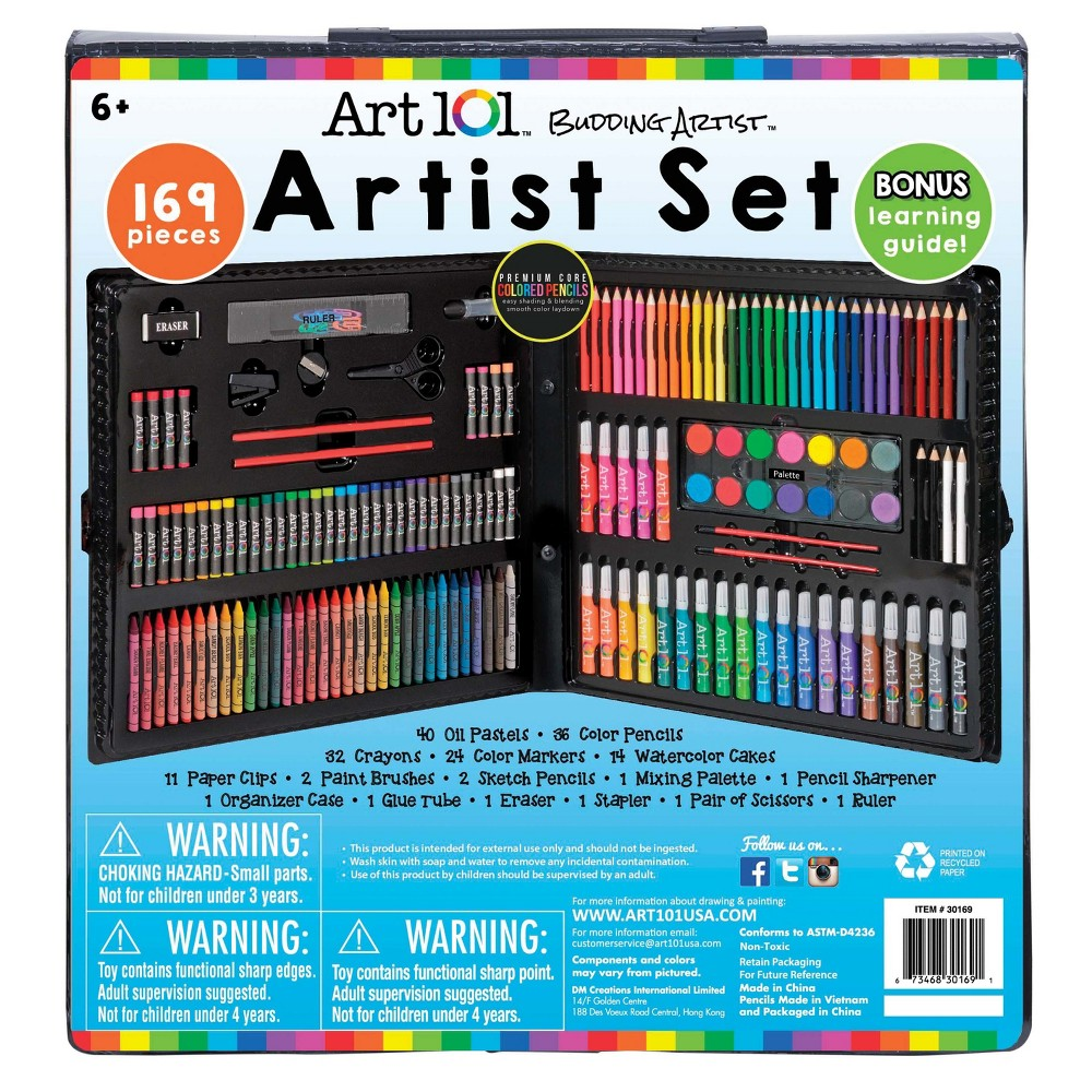 Image of Art101 Young Artists Coloring Set - 169pc