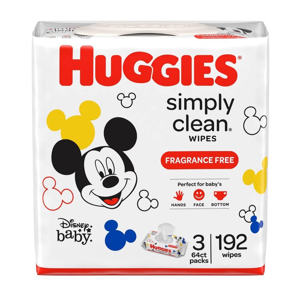 Huggies Simply Clean Unscented Baby Wipes 3 Flip Top Packs 192ct
