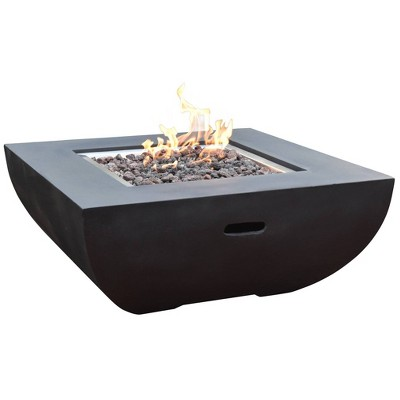 "Aurora 34"" Outdoor Fire Pit Propane Table Backyard Patio Heater - Elementi"