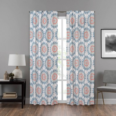 Summit Medallion Draft Stopper Window Curtain Panel - Eclipse